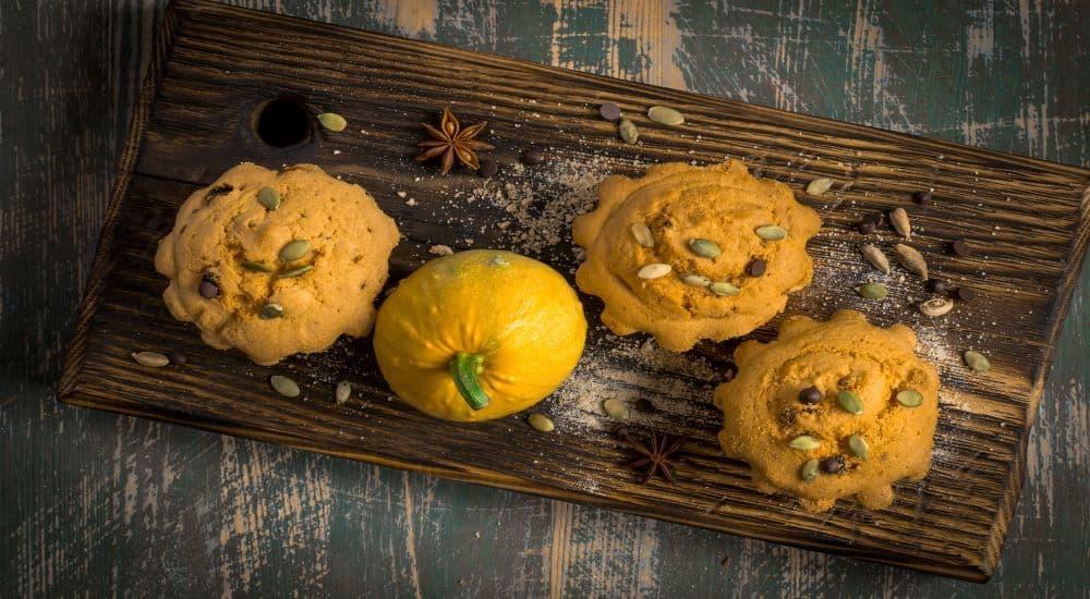 Pumpkin muffins with collagen baking with collagen peptide powder